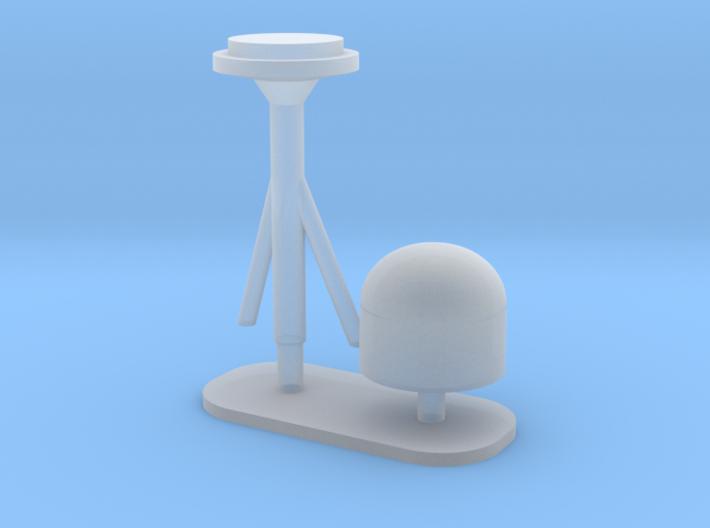 1:96 scale SatCom Dome Set 6 3d printed