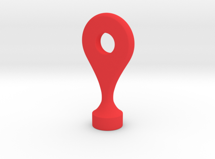 Google Maps Marker - Magnet (with hole) 3d printed