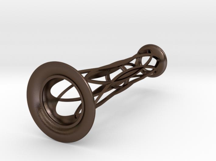 Bronze Metal Bud Vase - 4.3 in (111 mm) 3d printed
