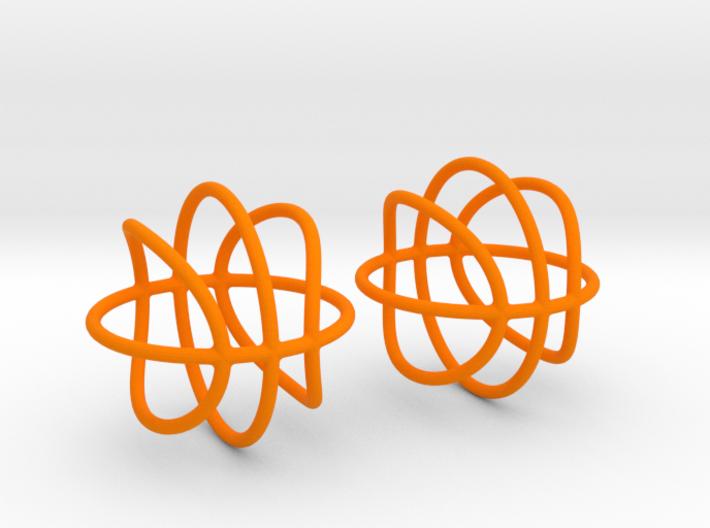 Basketball Wireframe Earrings 3d printed