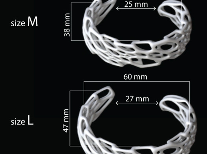 Bone Cuff 3d printed sizing guide