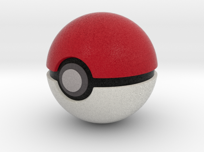Pokemonball 50 mm 3d printed Catch them all!