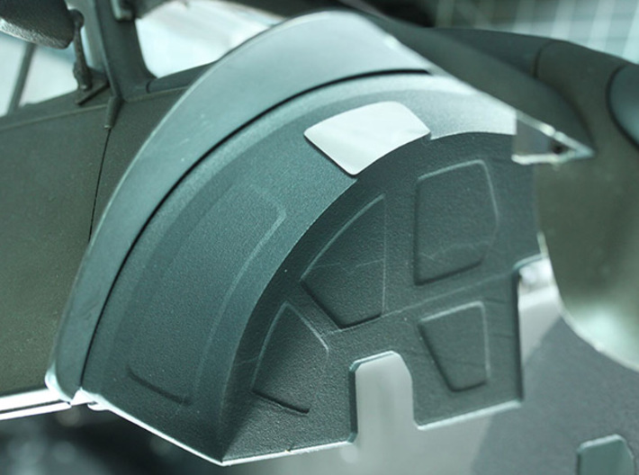 Sand Scorcher Inner Wheel Arches, Front 3d printed Black nylon plastic, car shell not included