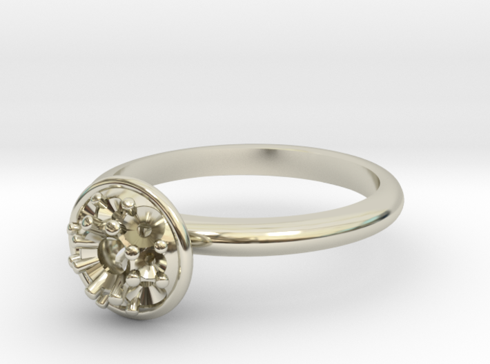 Bouquet Engagement Ring 3d printed