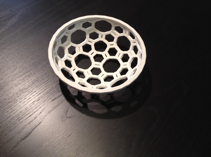 "Covalent Bonds Coffee Table Bowl (6.25"" diameter) 3d printed Click to edi"