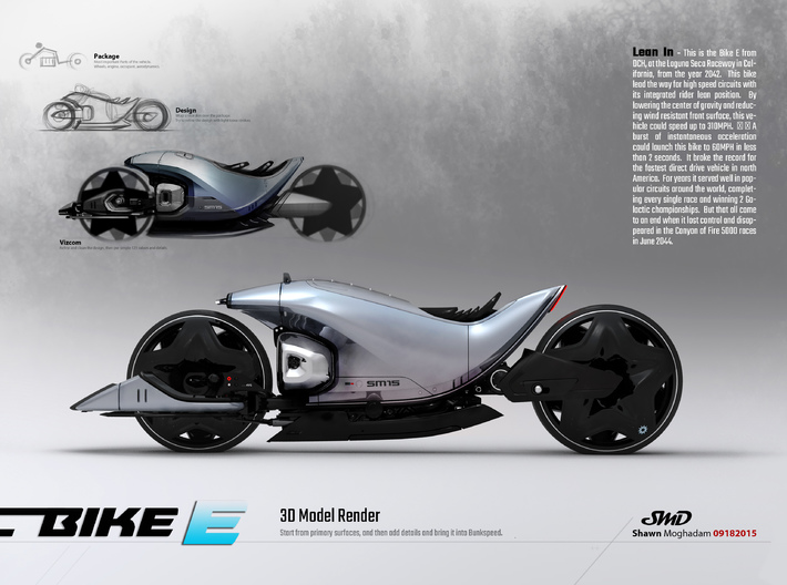 Bike E - from Concept Design Quest 3d printed
