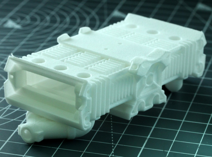 Sand Scorcher Flat Six Air-cooled Engine Block 3d printed The Engine Block, white nylon plastic
