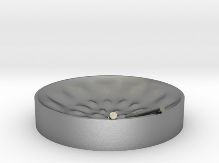 """Low Tenor """"damntingself"""" steelpan pendant, L 3d printed"""