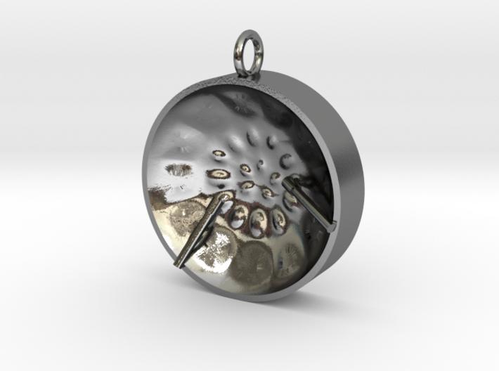 """Low Tenor """"damntingself"""" steelpan pendant, M 3d printed"""