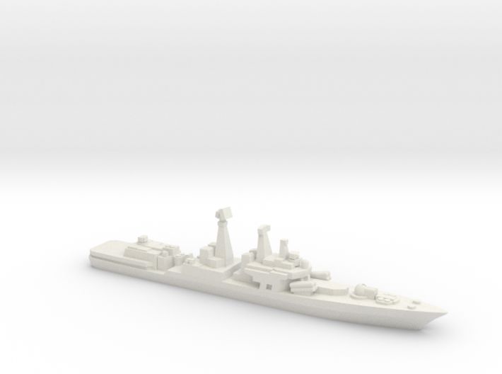 Udaloy II-class destroyer, 1/3000 3d printed