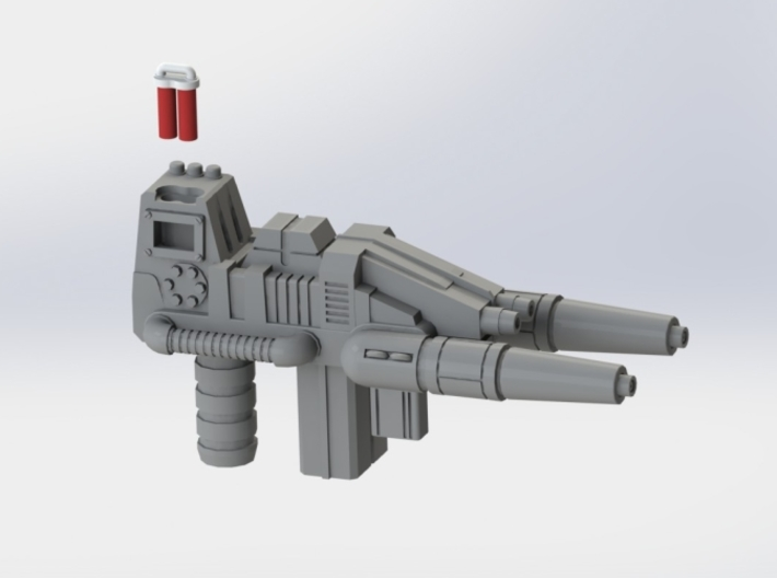 "FOC Grimlock Twin Blaster 3d printed Sprue removed (gun ""unloaded"")"