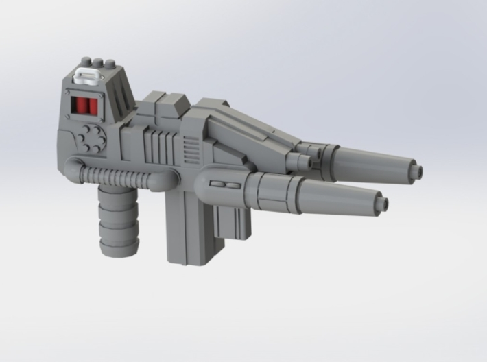 "FOC Grimlock Twin Blaster 3d printed Gun ""loaded"""