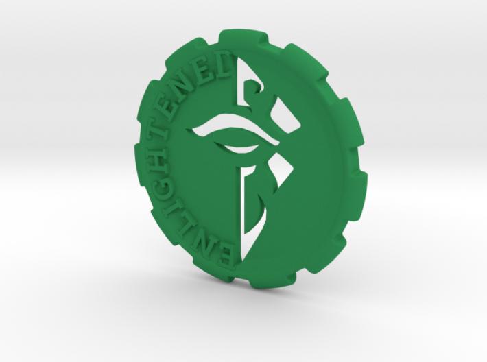 Ingress Enlightened Challenge Coin 3d printed