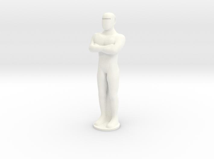 Humanoid Robot Gort Likeness Keychain 3 3d printed