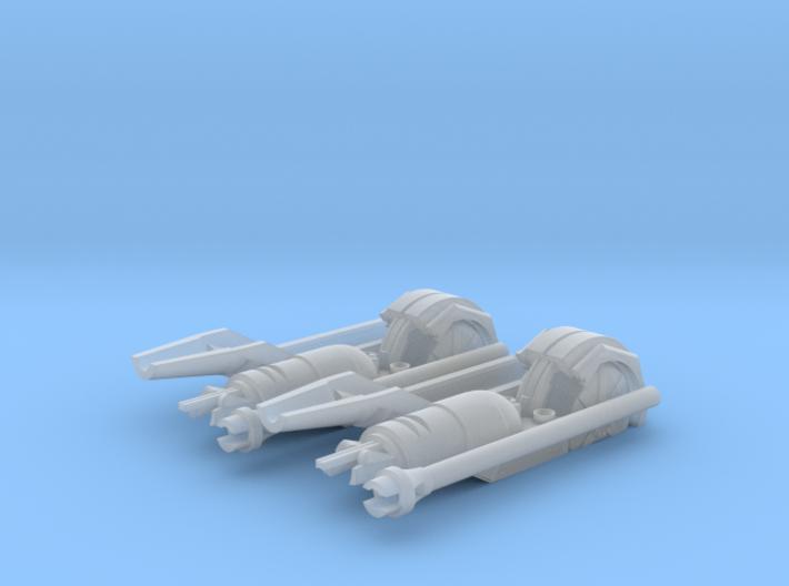 ATAT REBELL CHIN GUN SET 3d printed