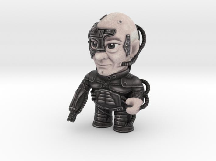 Locutus Star Trek Caricature 3d printed Locutus of Borg! Resistance is futile.