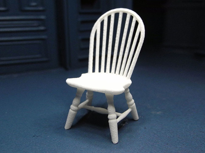 1 24 Hoop Back Windsor Chair Printed In White Strong Flexible