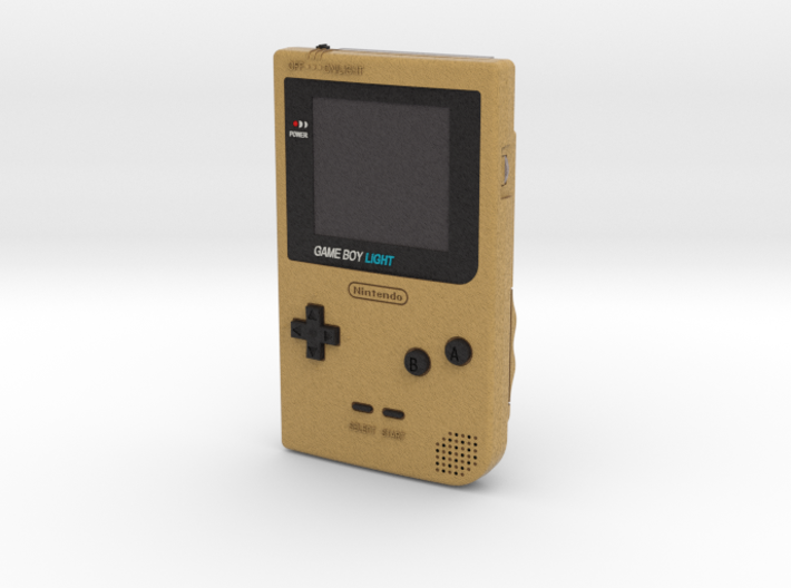 1:6 Nintendo Gameboy Light (Gold) 3d printed