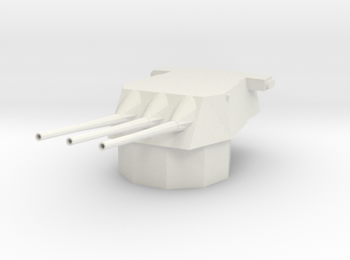 1/144 Scale Triple 8 Inch Gun 3d printed