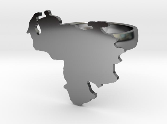 Venezuela Map Ring size 8 3d printed