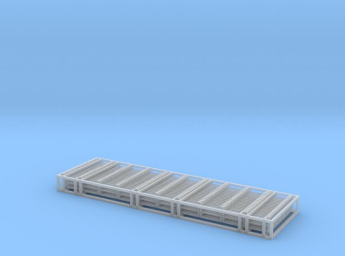N Scale 18x 100mm Bridge Railings 3d printed