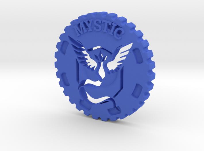 Pokemon Go Team Mystic Challenge Coin 3d printed