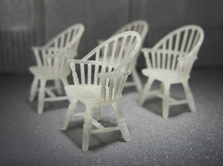 1:48 Sack Back Windsor Chairs 3d printed