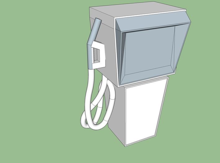 HO Vintage Gas Pump 3d printed