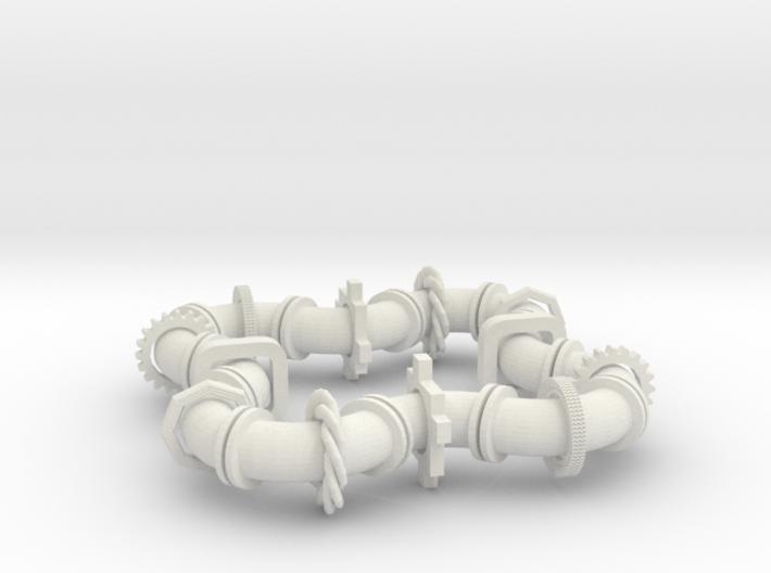 Twisting Links Fidget - Dual Action 3d printed