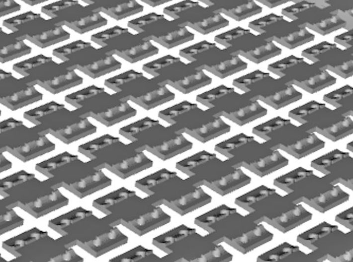 HO Sleeper Plates X 1000 3d printed Close up of 3D render