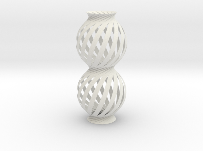 Lamp Ball Twist Spiral Column Fold and Cut 3d printed