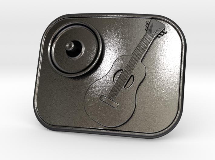 Mexico Guitarron Belt Buckle 3d printed