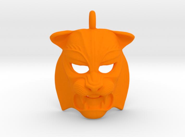 Plastic Tiger Pendant 3d printed