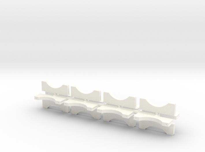 1/8 4 Inch Muffler Clamps 3d printed