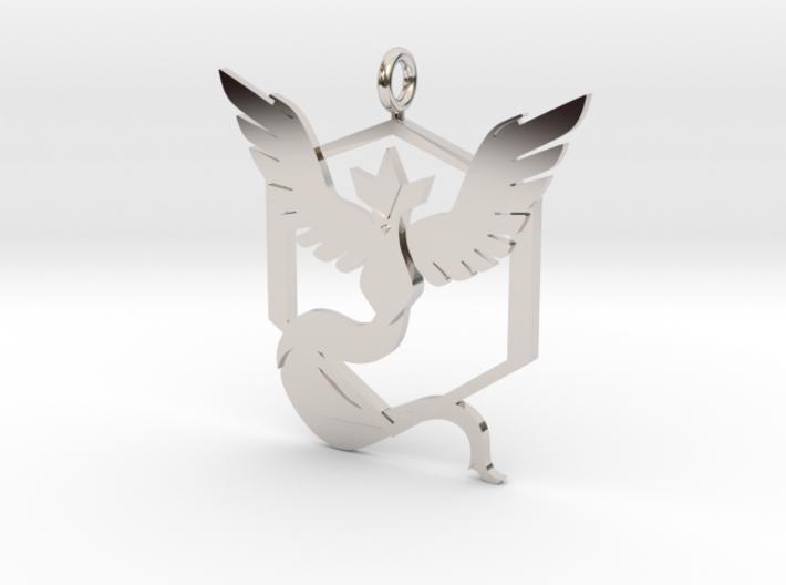 Pokémon Go Team Mystic Pendant 3d printed