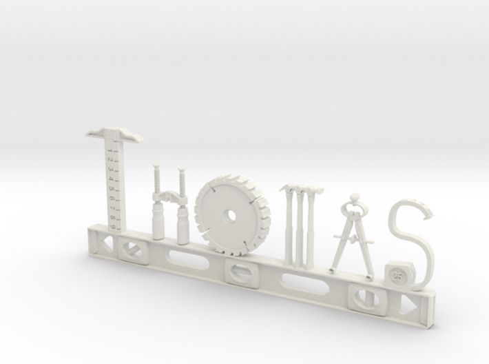 Thomas Nametag 3d printed