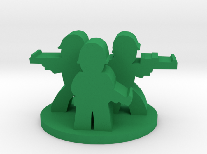 Game Piece, WW2 Allied Unit 3d printed