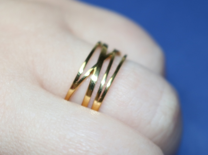 Abstract Lines Ring - US Size 12 3d printed