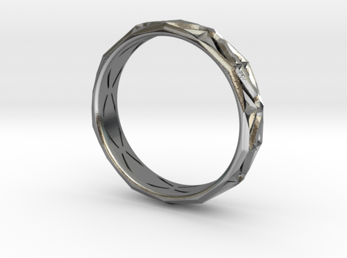 Cut Facets Ring Sz. 10 3d printed