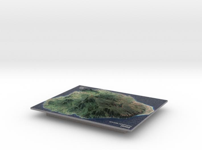 Kauaʻi Map, Hawaiian Islands 3d printed
