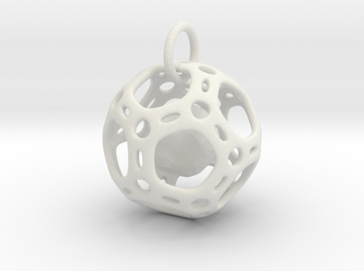 Dodecahedron inside a Dodecahedron Pendant 3d printed