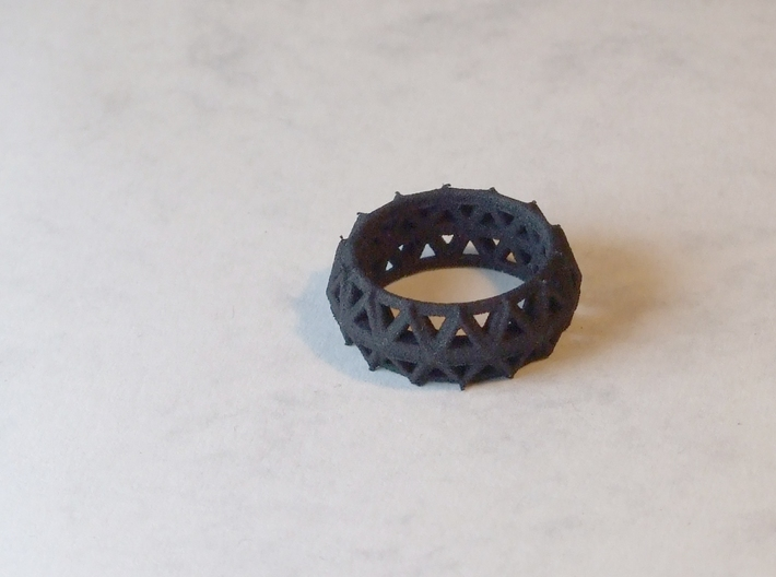 Brilliant Facets - Triangle Ring 3d printed