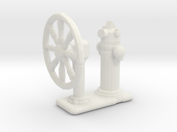 1/144 Scale Ships Wheel 3d printed