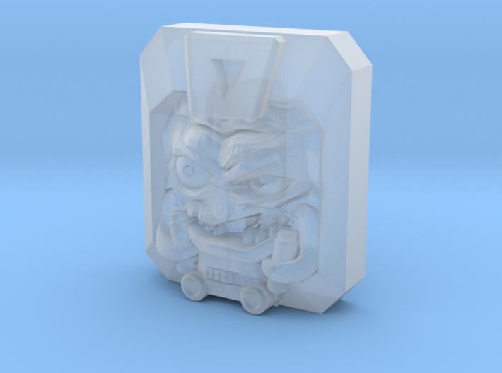Krang Faceplate (Titan Masters) 3d printed