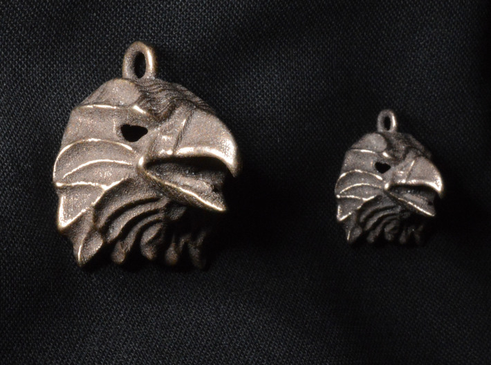 Eagle Small Pendant 3d printed