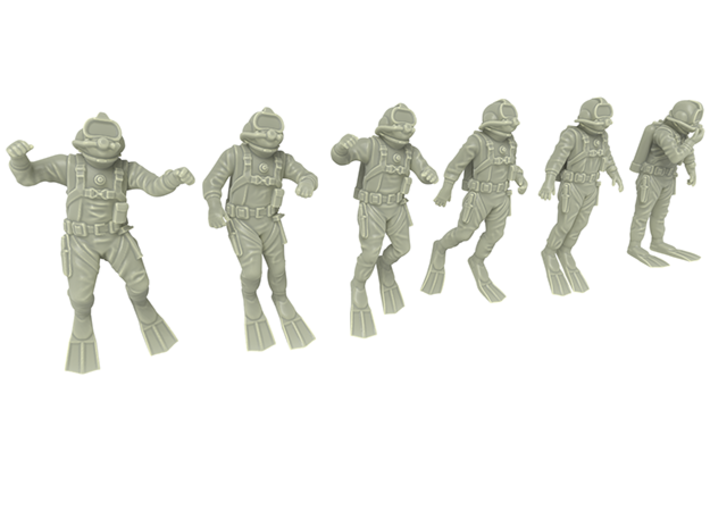 Commercial Diver / Six Pack / 1:72 3d printed