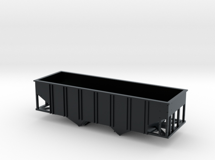 N Scale 55 Ton U Channel Hopper  3d printed