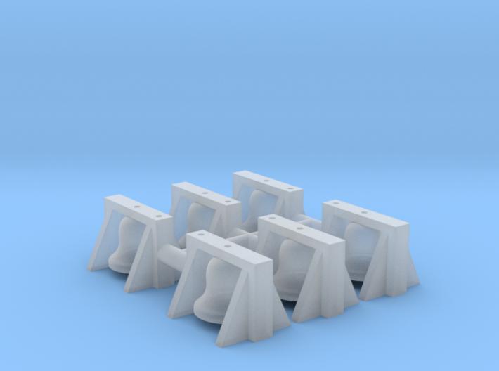 Roof Mount Bell (N - 1:160) 6X 3d printed