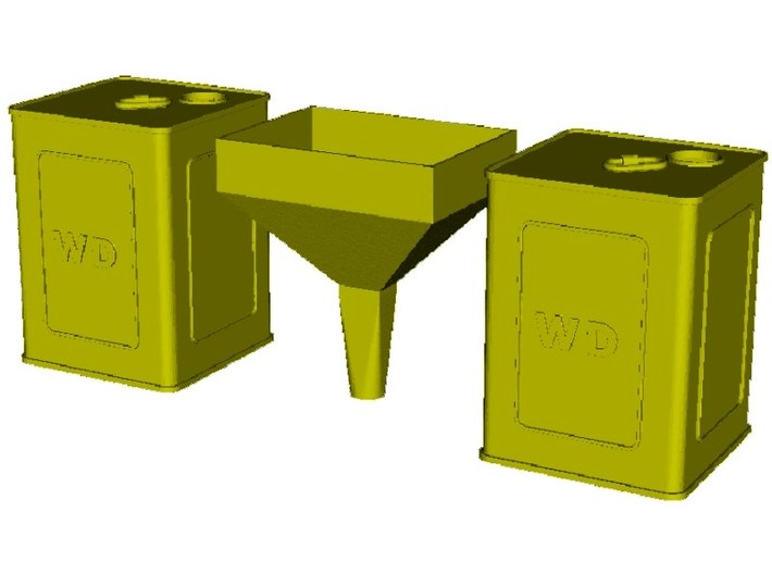1/18 scale WWI flimsies 4 gal fuel canisters x 2 3d printed
