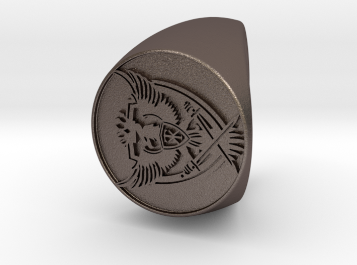 Custom Signet Ring 34 3d printed